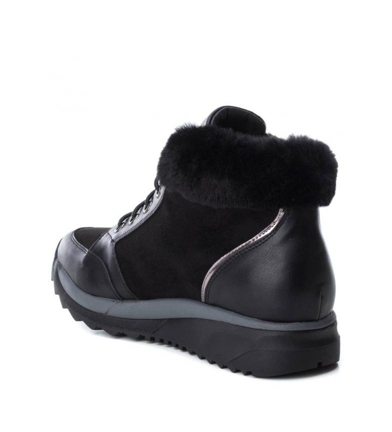 Chaussures Xti Noir À Plat Gris Basses Femme Synthétique 5 Tissu 048621 3 drqrSx