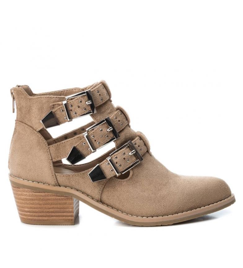 Comprar Xti Booty wide heel cow boy 048948 camel -Heel height: 5cm