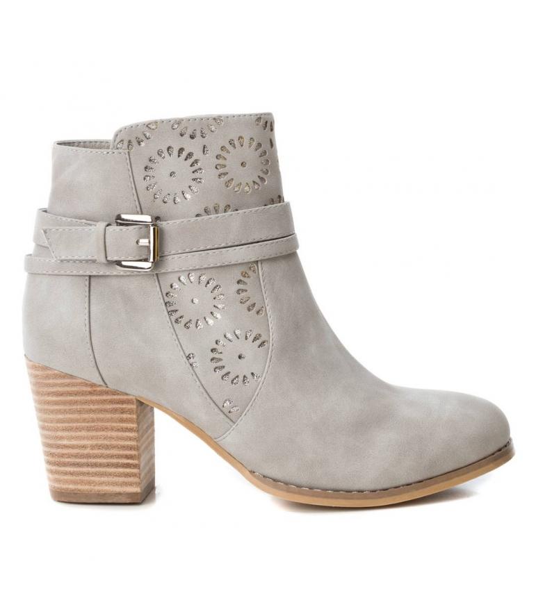 Comprar Xti Booty wide heel cow boy 049115 ice -Heel height: 7cm