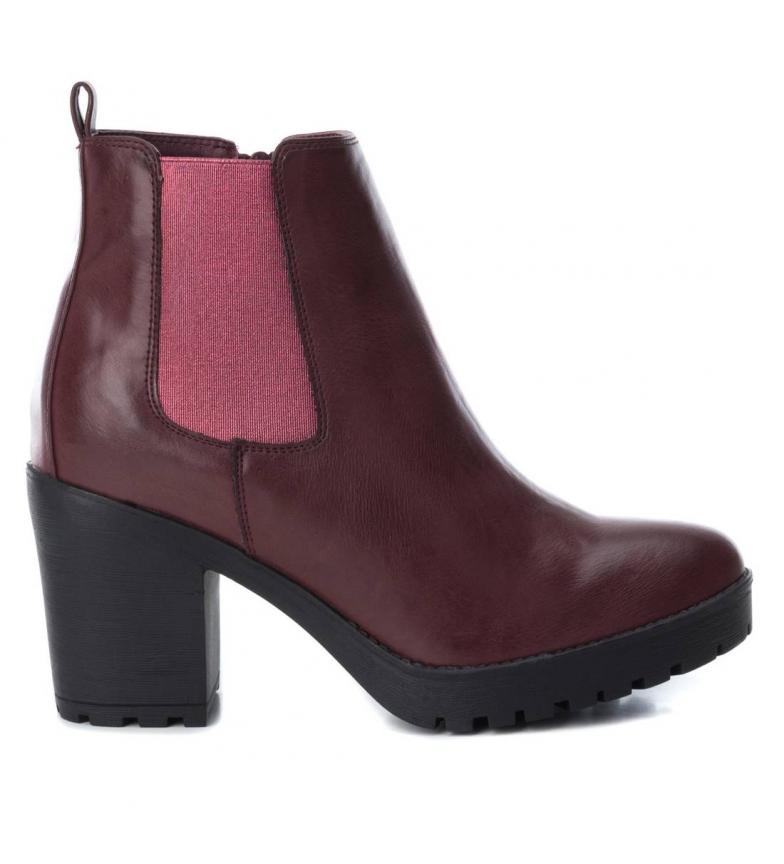 Comprar Xti Chelsea heel boot 048455 burgundy -heel height: 8cm