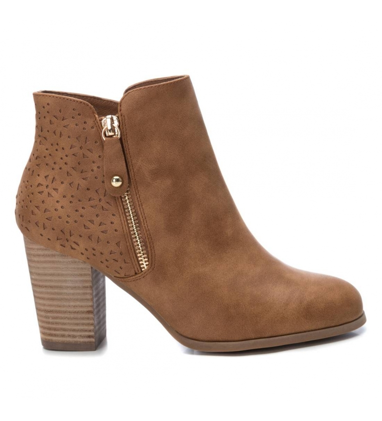 Comprar Xti Ankle boots 049702 camel -heel height: 8 cm