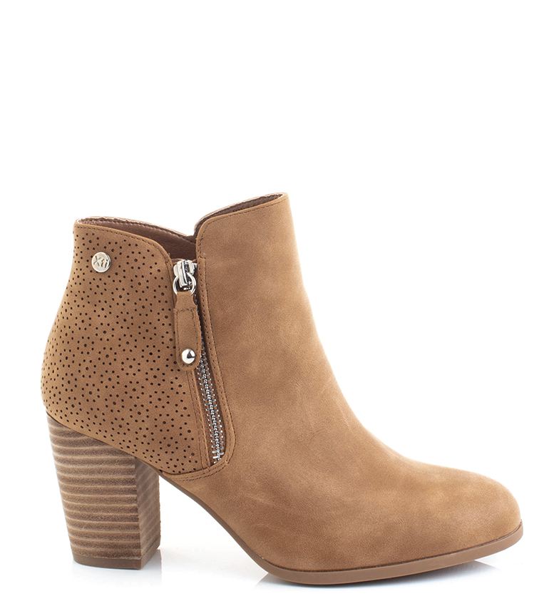 Comprar Xti 34224 camel ankle boots -heel height: 7.5cm