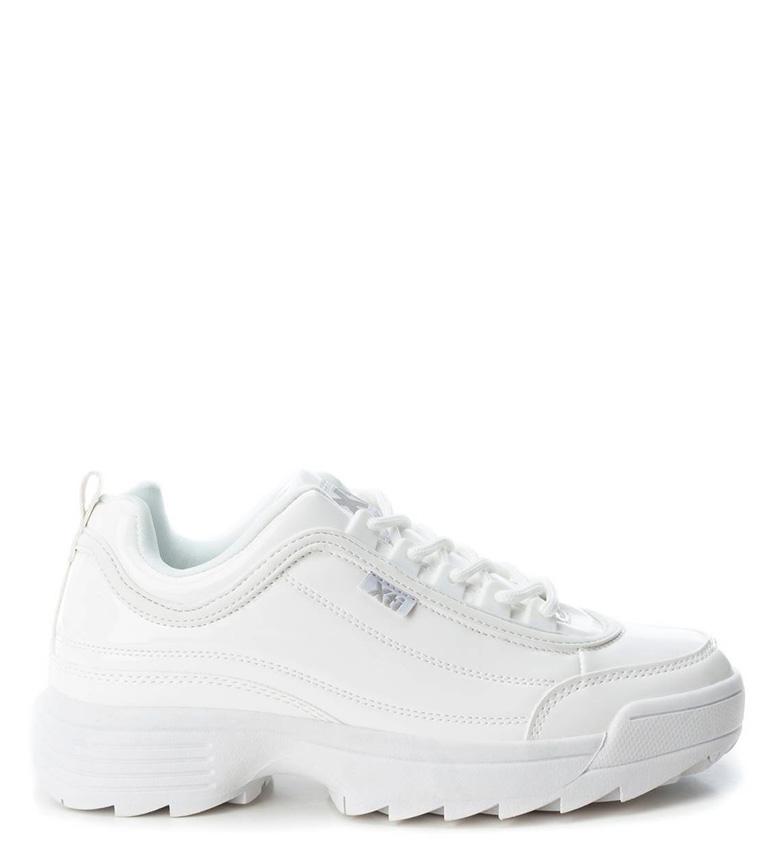 Comprar Xti Zapatillas Mika efecto charol blanco -Altura suela: 4,5cm-