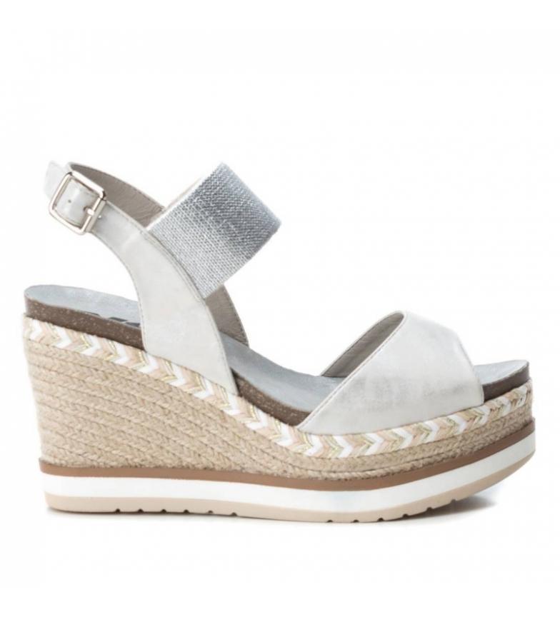 Comprar Xti Sandal 049108 silver - Wedge height: 10cm