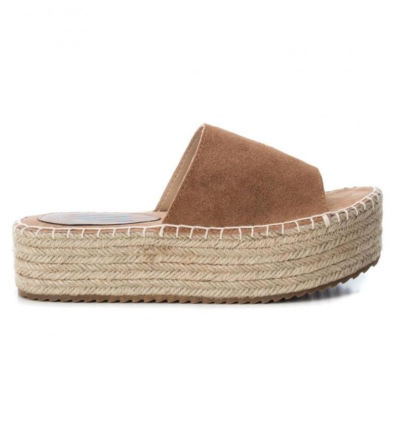 Comprar Xti 49133 Camel Leather Sandal - Platform Height: 4cm