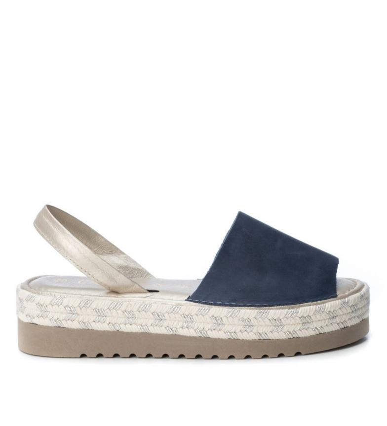 Comprar Carmela Avarcas leather Nely jeans -High platform: 4cm