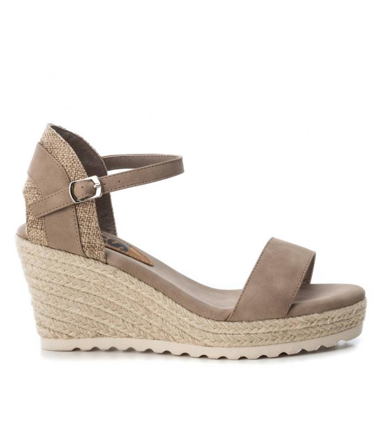 Comprar Refresh Sandal 069717 taupe - wedge height: 8.5cm