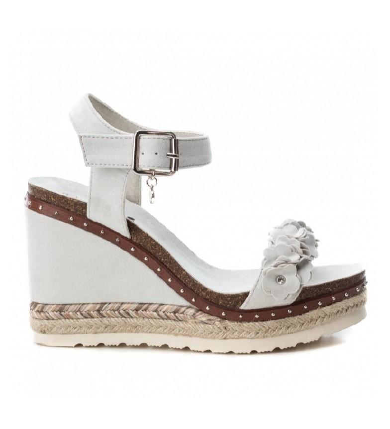 Comprar Xti Sandals wide wedge bios 048921 ice - Wedge height: 10cm