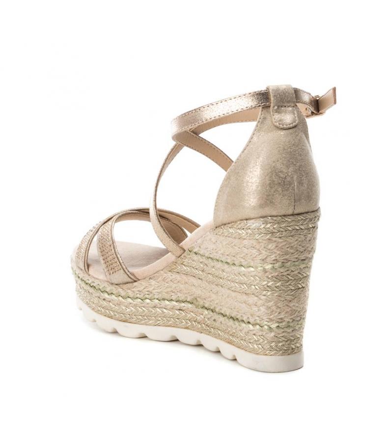 Xti-Sandali-larghi-cuneo-di-juta-049001-beige-Altezza-cuneo-10cm-Donna-Rosa miniatura 5