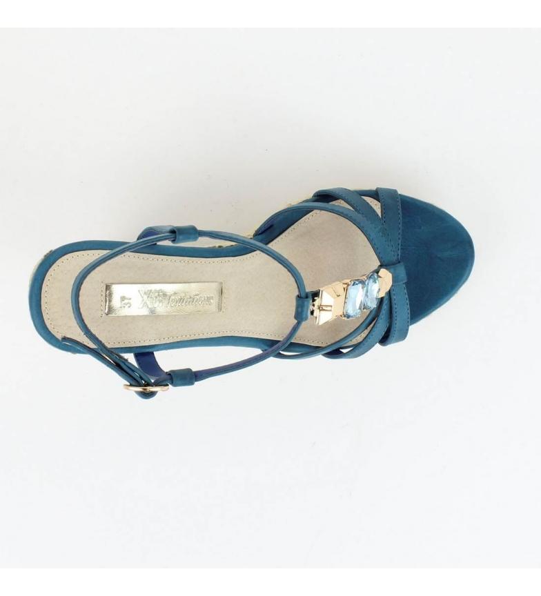 Xti tango 030184 cuña Xti 11cm Altura Sandalia cuña jeans Sandalia wRrIqR