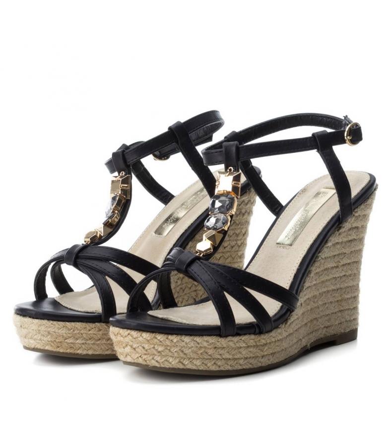 Sandalia negro Altura Xti tango 11cm cuña Sandalia Xti 030184 cuña ERYxwY17q
