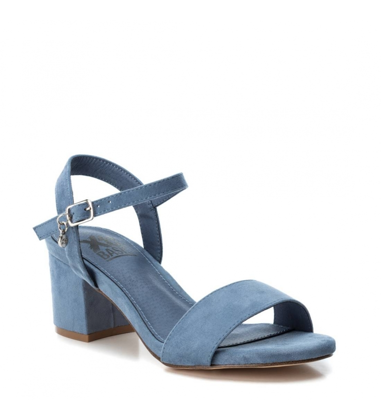 034134 Jeans Mujerchica Ancho Altura Tacón De Detalles Tacón7cm Xti Azul Sandalia OXkuPZiT