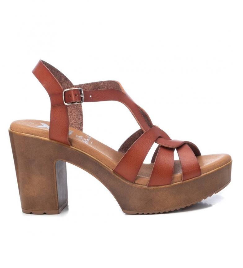Comprar Xti Sandals 042747 camel -Heel height: 9cm- -Height of heel: 9cm- -Sandals: 042747 camel
