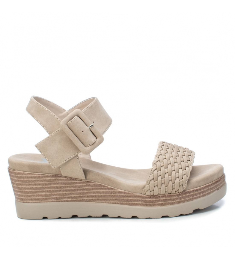 Comprar Xti Sandals 044003 beige - Wedge height: 6cm