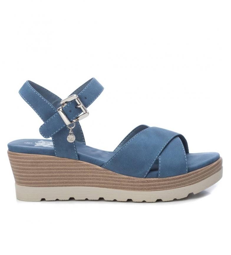 Comprar Xti Sandálias 034229 azul - altura da cunha: 5cm