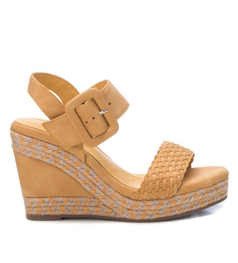 Comprar Xti Sandalias 049719 amarillo -Altura cuña: 10cm-