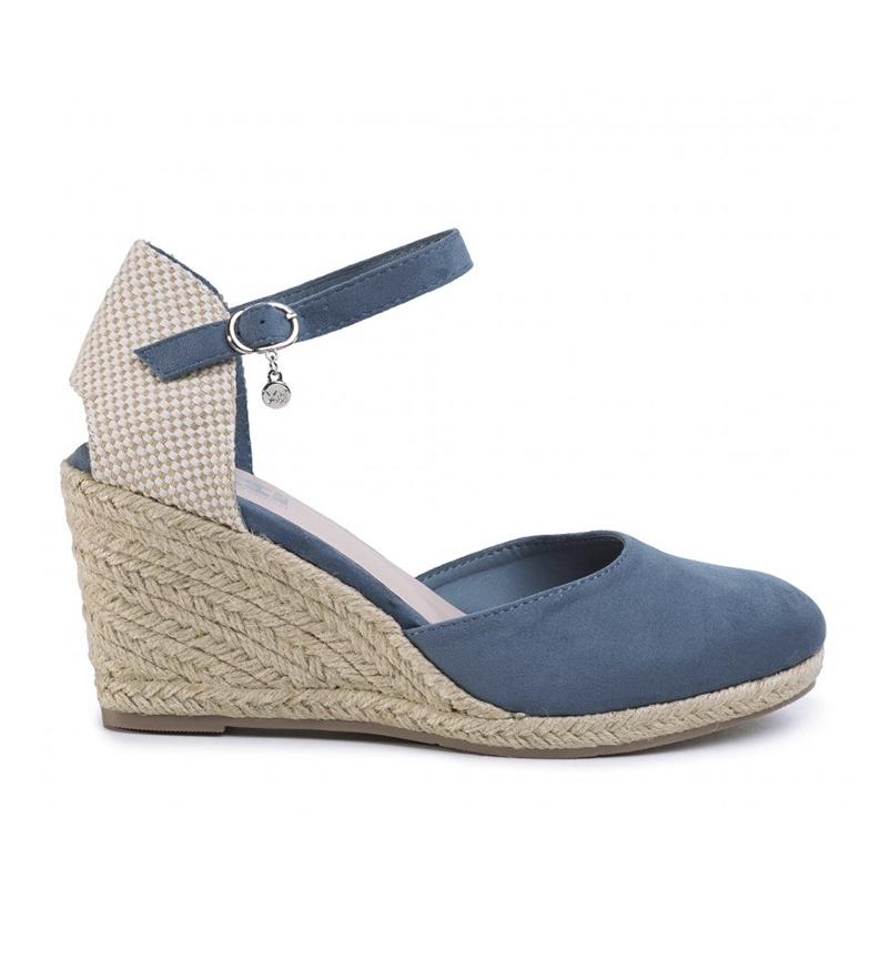 Comprar Xti Sandalias 049730 jeans -Altura cuña: 9cm-