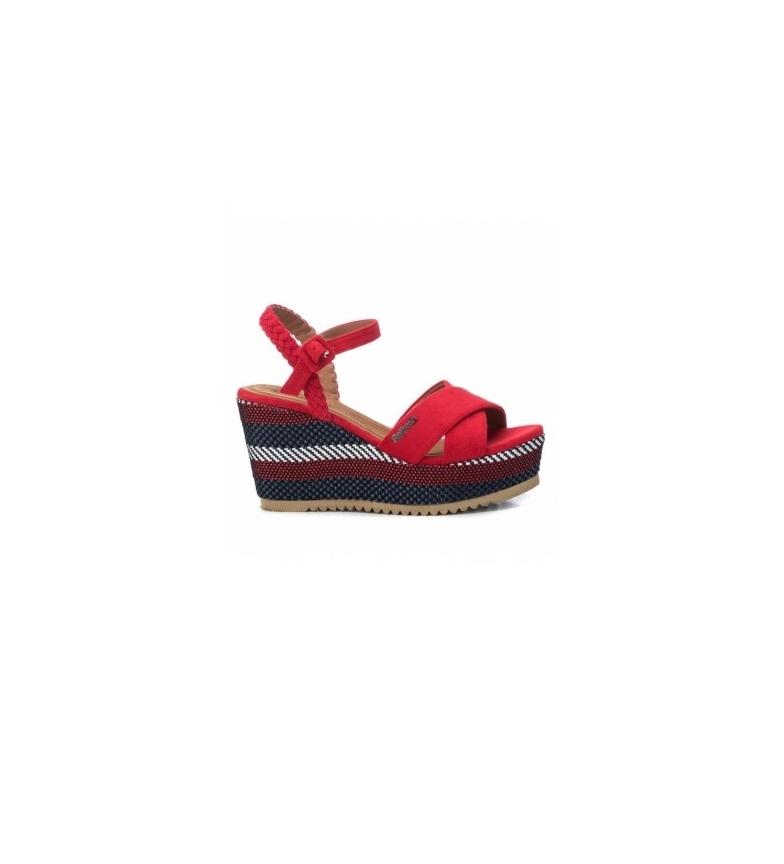 Comprar Xti Sandalias 069583 rojo -altura cuña: 9cm-