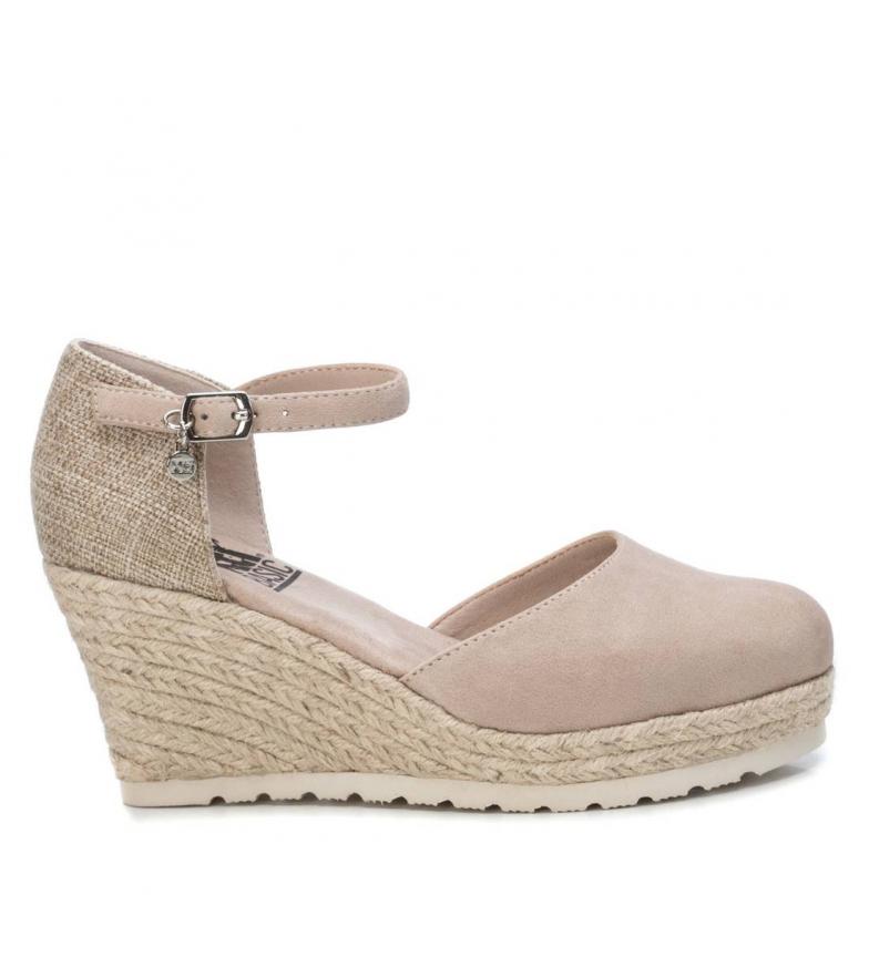 Comprar Xti Basic sandals 034286 beige - Wedge height:8cm