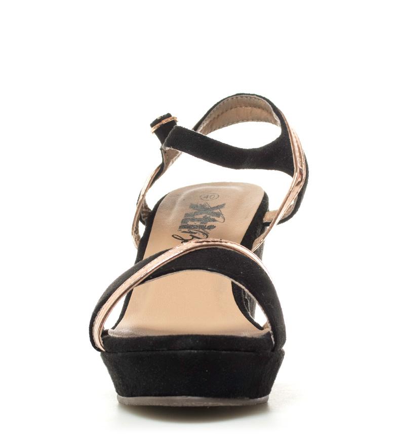 Sandalias cuña 9cm negro Blume Xti Altura Uxd8FqUT
