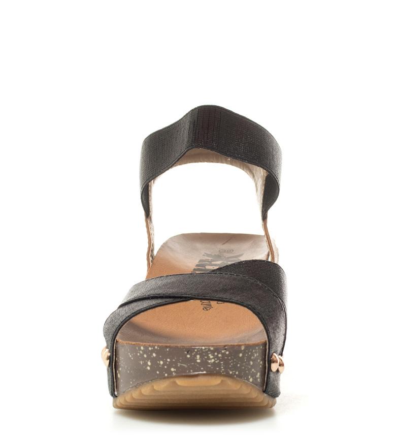 Sandalias Bonie 8cm Xti Altura cuña negro CddFf