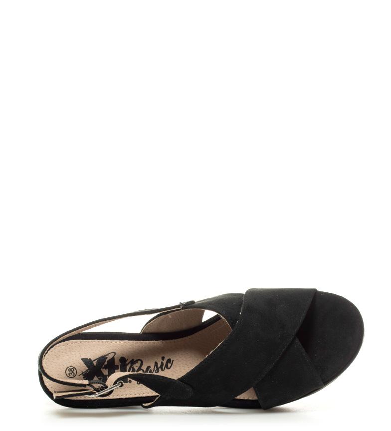 Sandalias Brie Altura negro Xti tacón 10cm gOwqOUxd