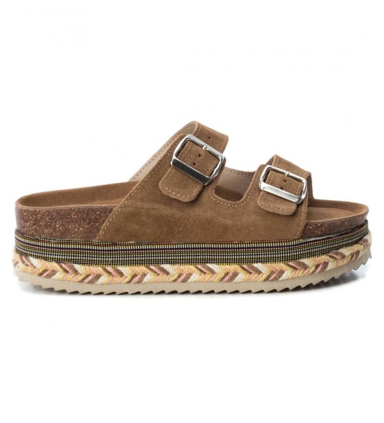 Comprar Xti Patricia camel leather sandals -High platform. 5cm