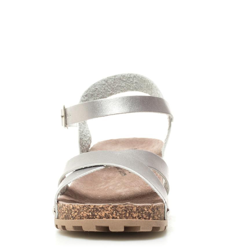 Xti 4cm plata Liana cuña Sandalias Altura 1YB6TwYq