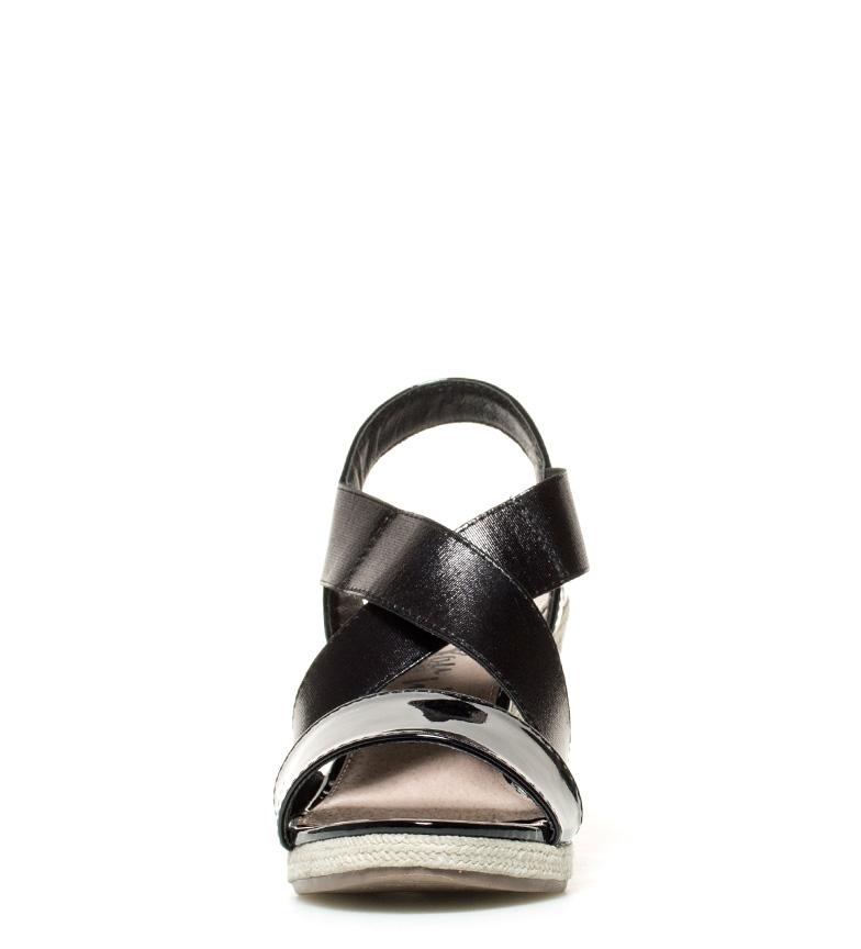 negro Sandalias Xti 5cm 8 Altura br cuña Prisca br EFExcwdrqp