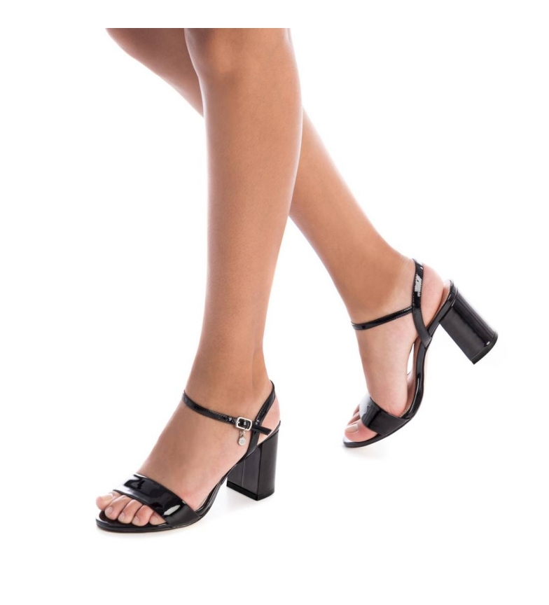 Xti-Sandali-con-tacco-032033-nero-Altezza-tacco-8cm-Donna-Beige-Rosa miniatura 3