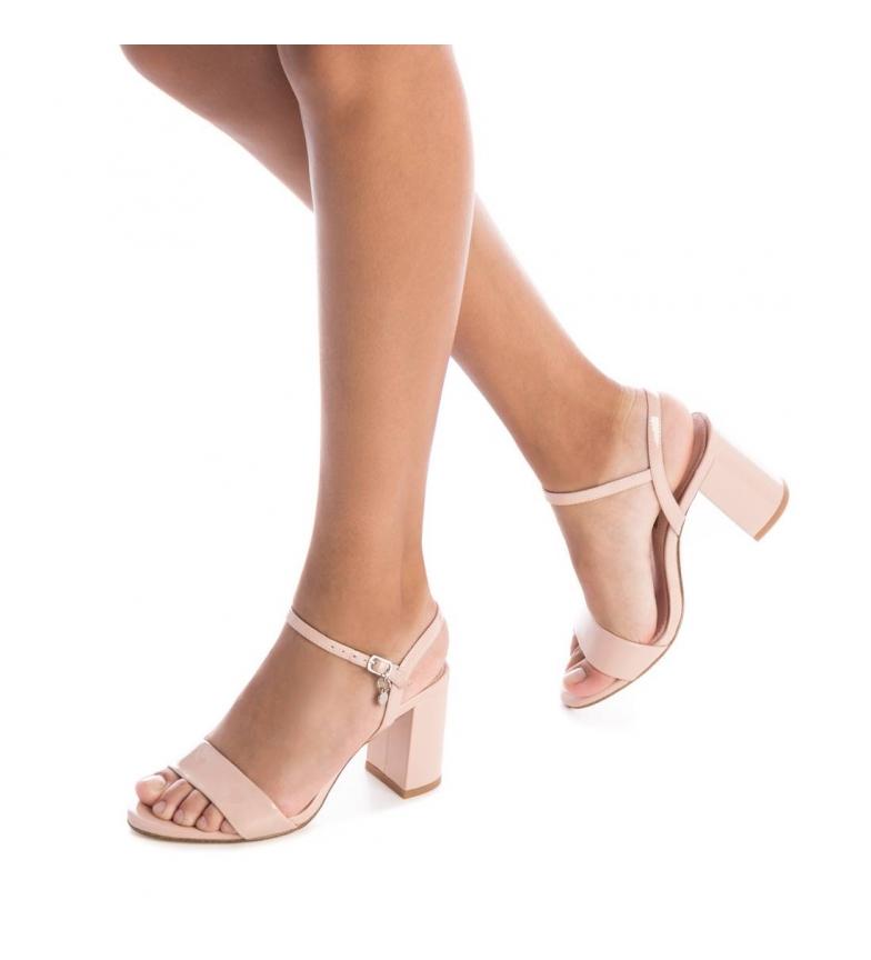 Xti-Sandali-con-tacco-032033-nero-Altezza-tacco-8cm-Donna-Beige-Rosa miniatura 8
