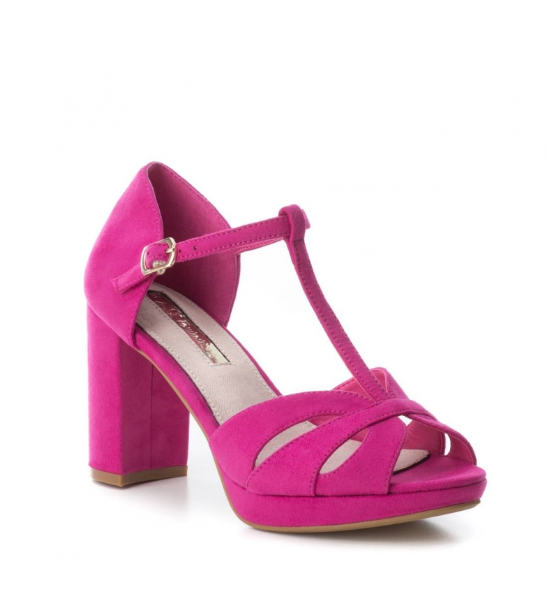 Xti-Tacco-scarpa-030743-blu-Tacco-heel-9cm-Donna-Nero-Rosso-Rosa-Tessuto miniatura 19