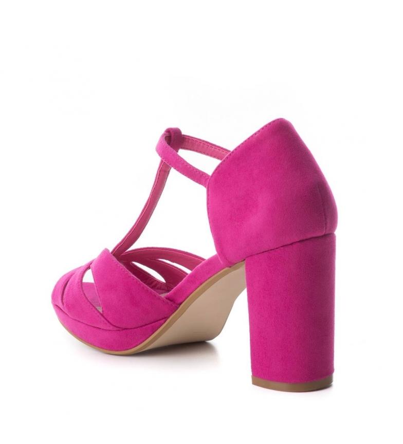 Xti-Tacco-scarpa-030743-blu-Tacco-heel-9cm-Donna-Nero-Rosso-Rosa-Tessuto miniatura 20