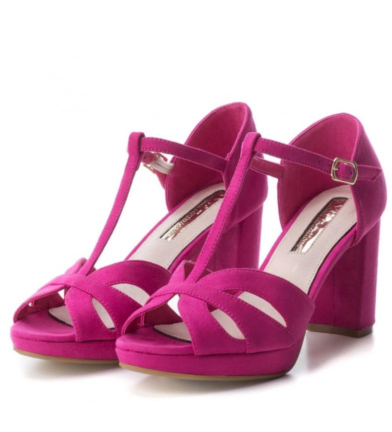 Xti-Tacco-scarpa-030743-blu-Tacco-heel-9cm-Donna-Nero-Rosso-Rosa-Tessuto miniatura 21
