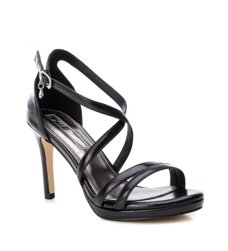 Xti-Sandali-035027-oro-Altezza-tacco-9cm-Donna-Nero-Beige-Rosa-8-a-10cm miniatura 4