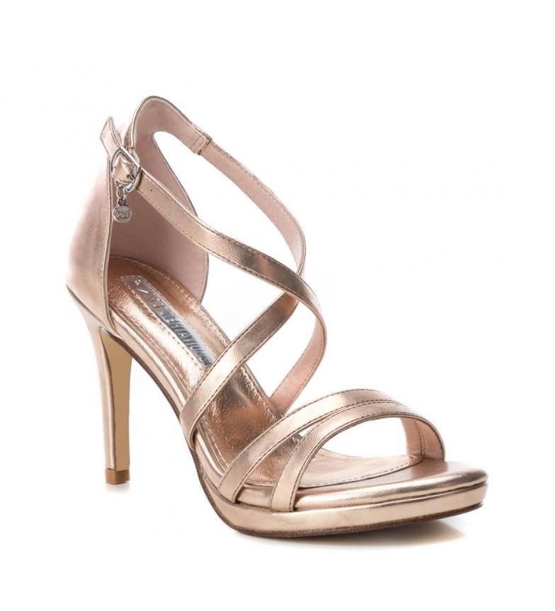 Xti-Sandali-035027-oro-Altezza-tacco-9cm-Donna-Nero-Beige-Rosa-8-a-10cm miniatura 14