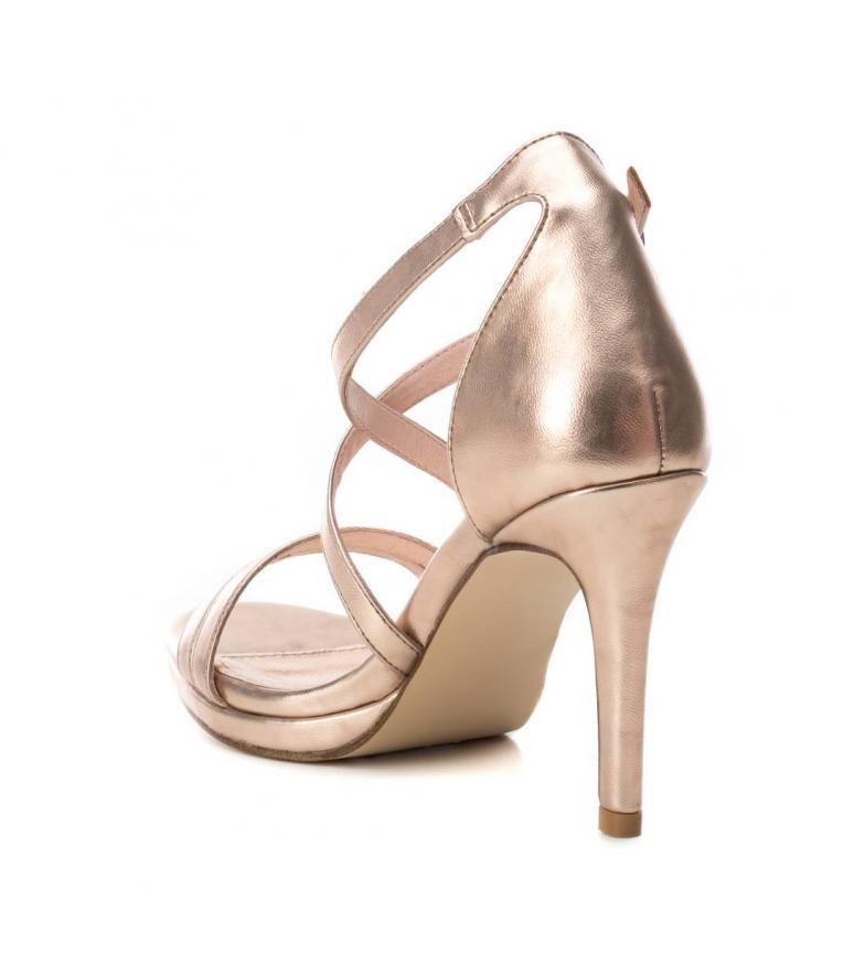 Xti-Sandali-035027-oro-Altezza-tacco-9cm-Donna-Nero-Beige-Rosa-8-a-10cm miniatura 15