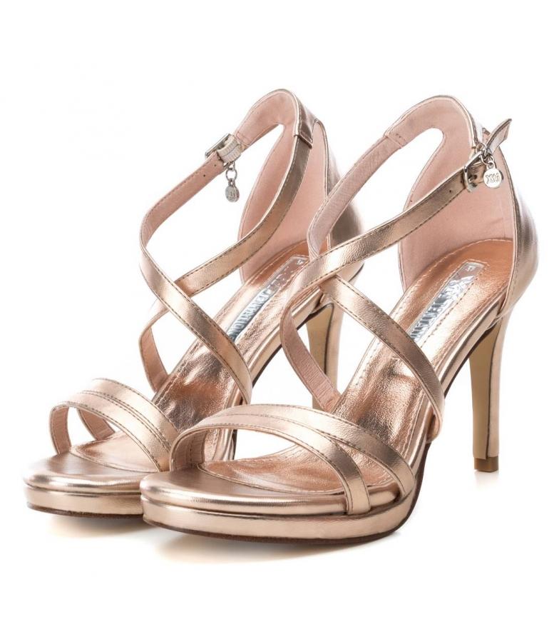 Xti-Sandali-035027-oro-Altezza-tacco-9cm-Donna-Nero-Beige-Rosa-8-a-10cm miniatura 16