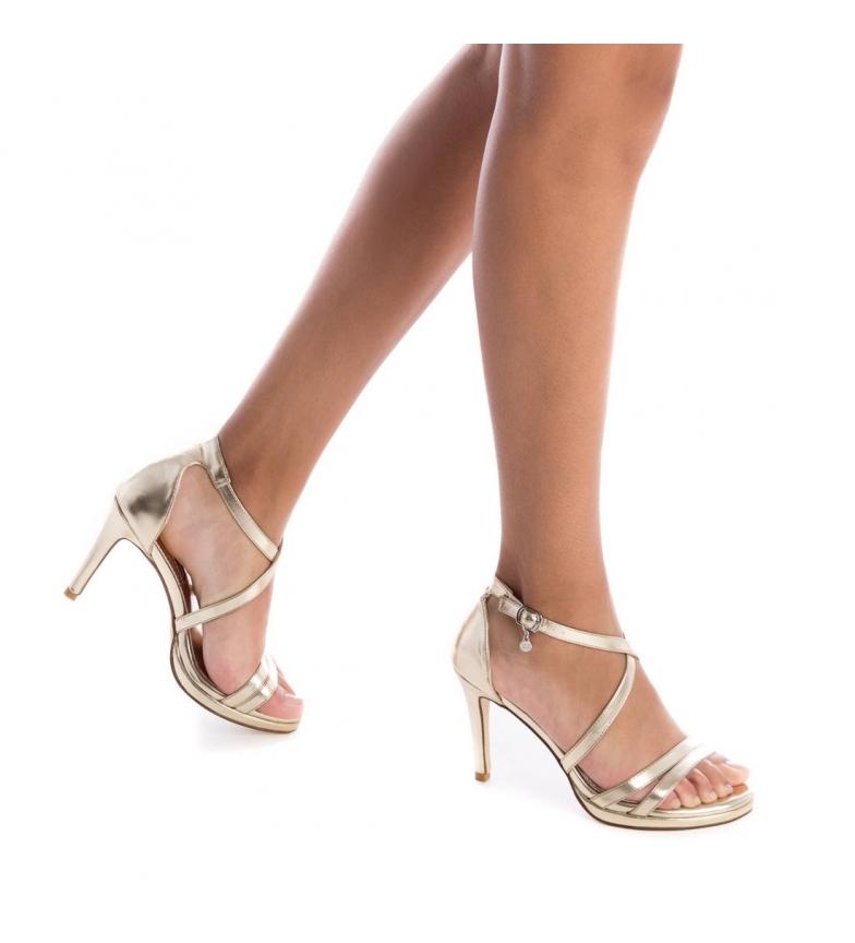 Xti-Sandali-035027-oro-Altezza-tacco-9cm-Donna-Nero-Beige-Rosa-8-a-10cm miniatura 8