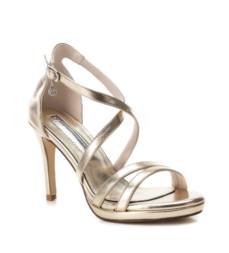 Xti-Sandali-035027-oro-Altezza-tacco-9cm-Donna-Nero-Beige-Rosa-8-a-10cm miniatura 9