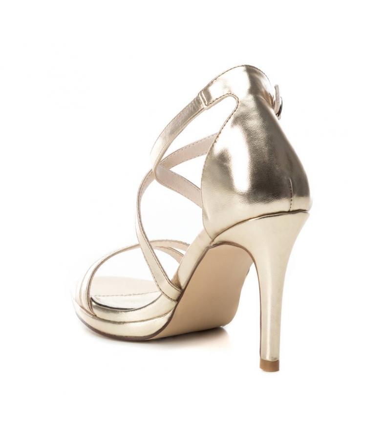 Xti-Sandali-035027-oro-Altezza-tacco-9cm-Donna-Nero-Beige-Rosa-8-a-10cm miniatura 10