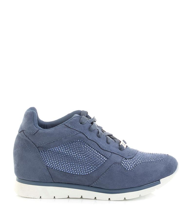 Comprar Xti Zapatillas 044098 jeans -Altura cuña 6 cm-