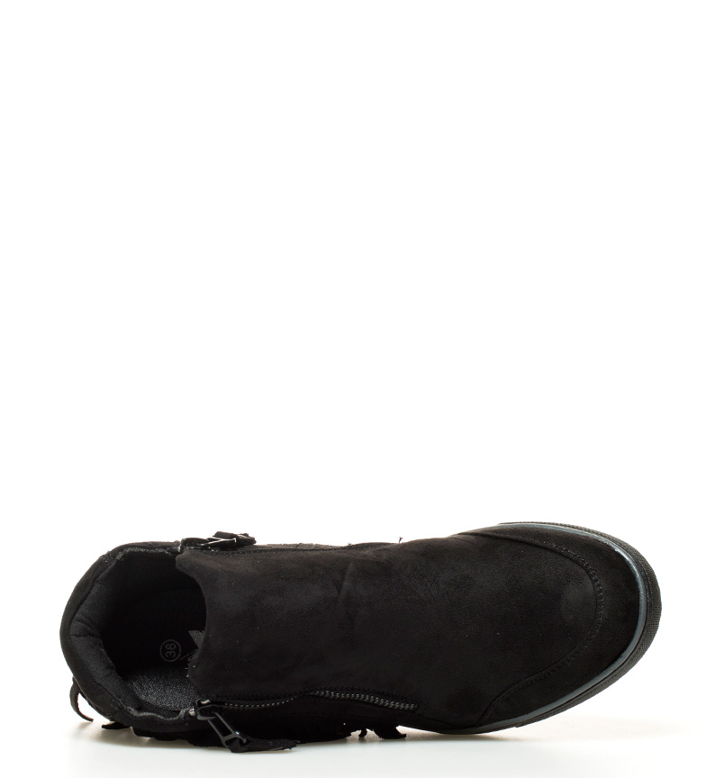 7cm cuña Altura Dafne Xti br negro br Zapatillas abotinadas w4C0q81