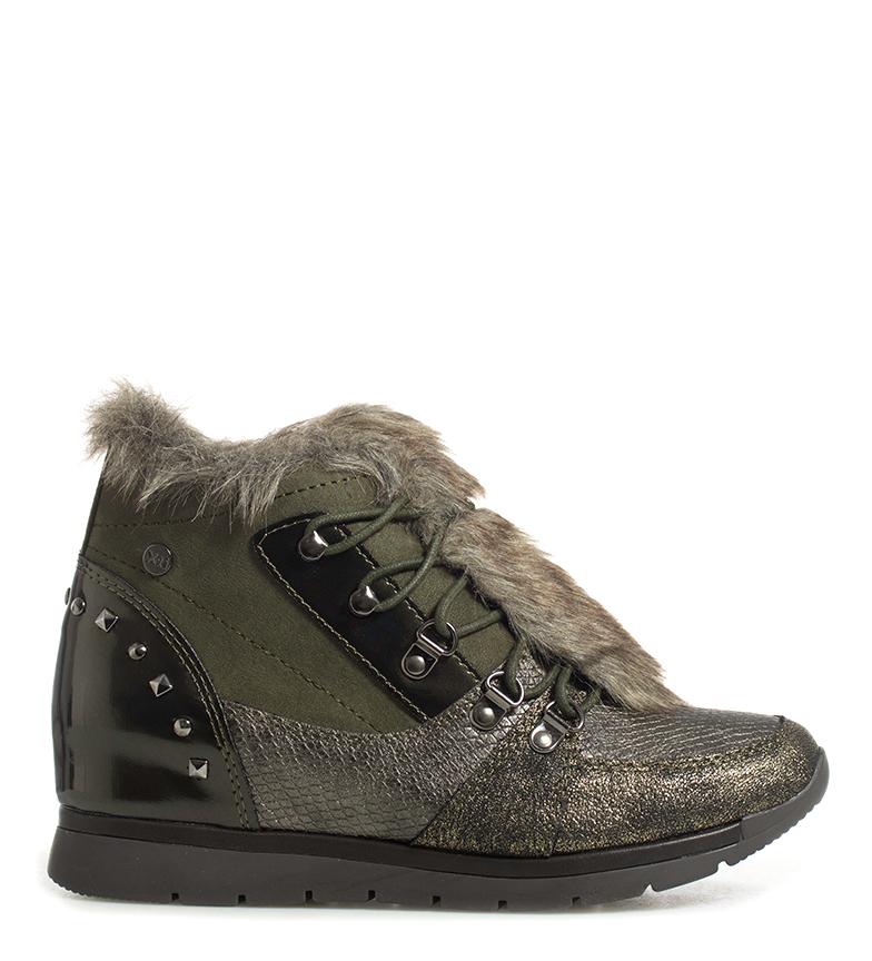 Comprar Xti Zapatillas Aldea kaki  -Altura cuña: 5cm-