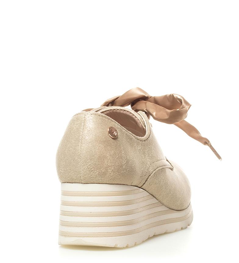 Zapatillas Bethia beige Altura 6cm cuña Xti vqH7x0w