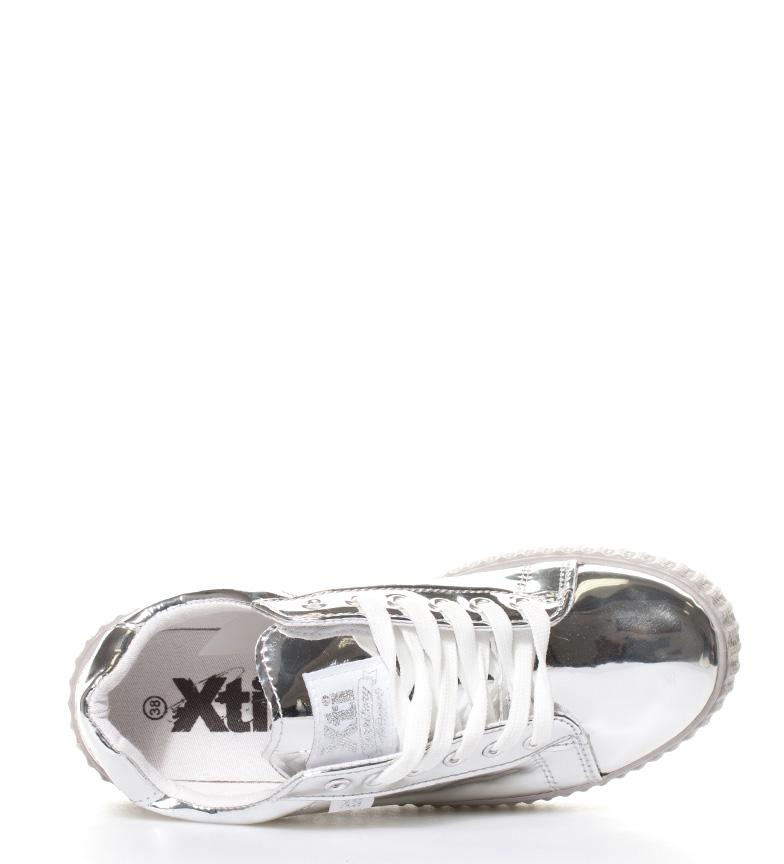 br Candice 3cm br Altura Zapatillas Xti espejo plata plataforma qXgvwWa7