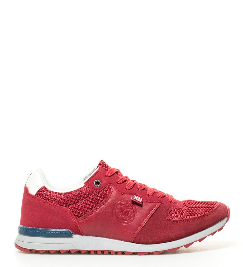 Anton Tissu Bleu Plat Noir Rouge Synthétique Lacets Chaussures Homme Xti 5nqYgR5