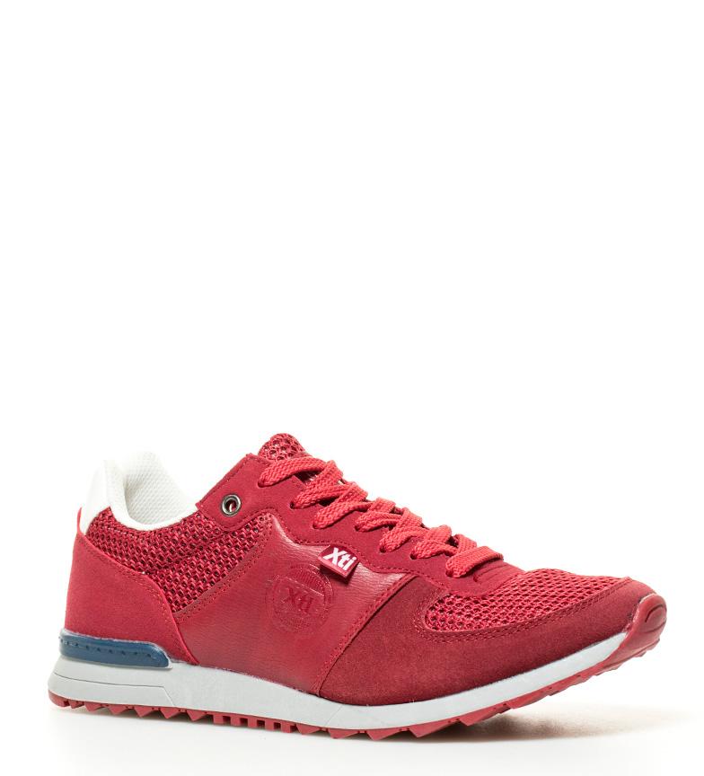 Xti Chaussures Tissu Bleu Anton Plat Homme Synthétique Lacets Noir Rouge qPZHOqw