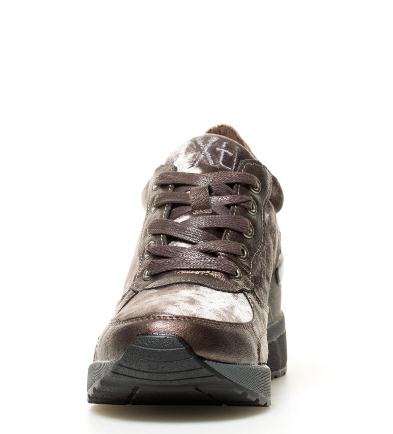 Coin Cm Chaussures 8 Femme Velours Sira Tissu 5 6cm À Bronze hauteur Xti USEHqx