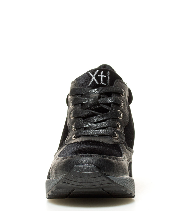 Sira br 6cm Xti cuña br Altura Zapatillas negro 485qaw